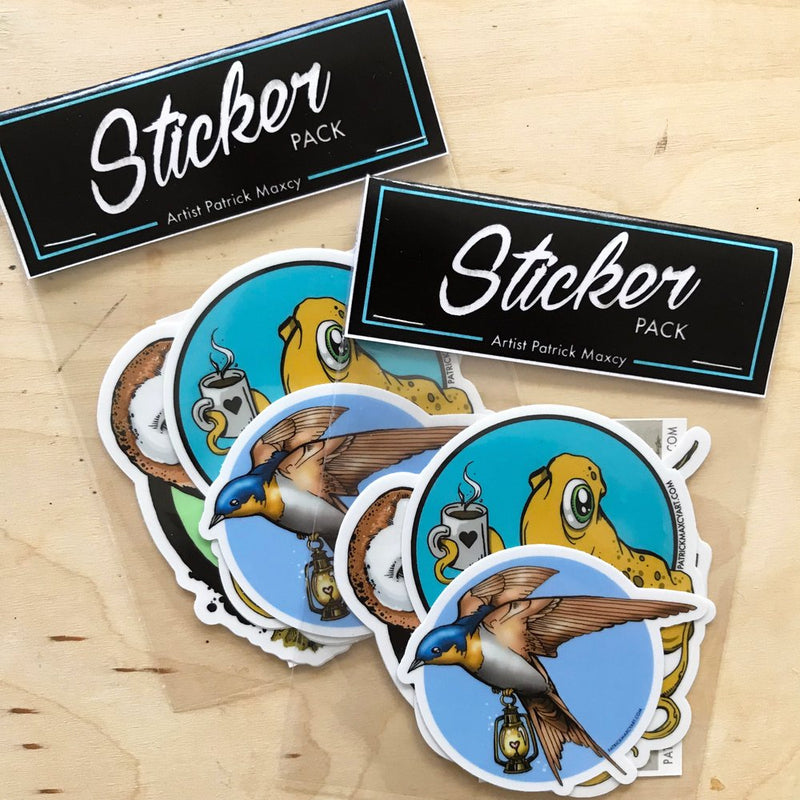 3 Pack of Artist Series Stickers