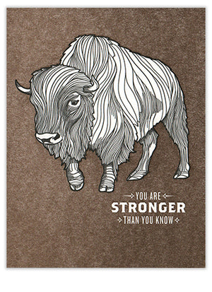 Stronger Bison Card