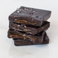 Premium Sea Salt Caramel Dark Chocolate Bar