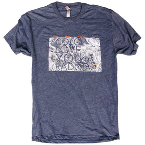 Topographic Colo Love You Rado T-Shirt