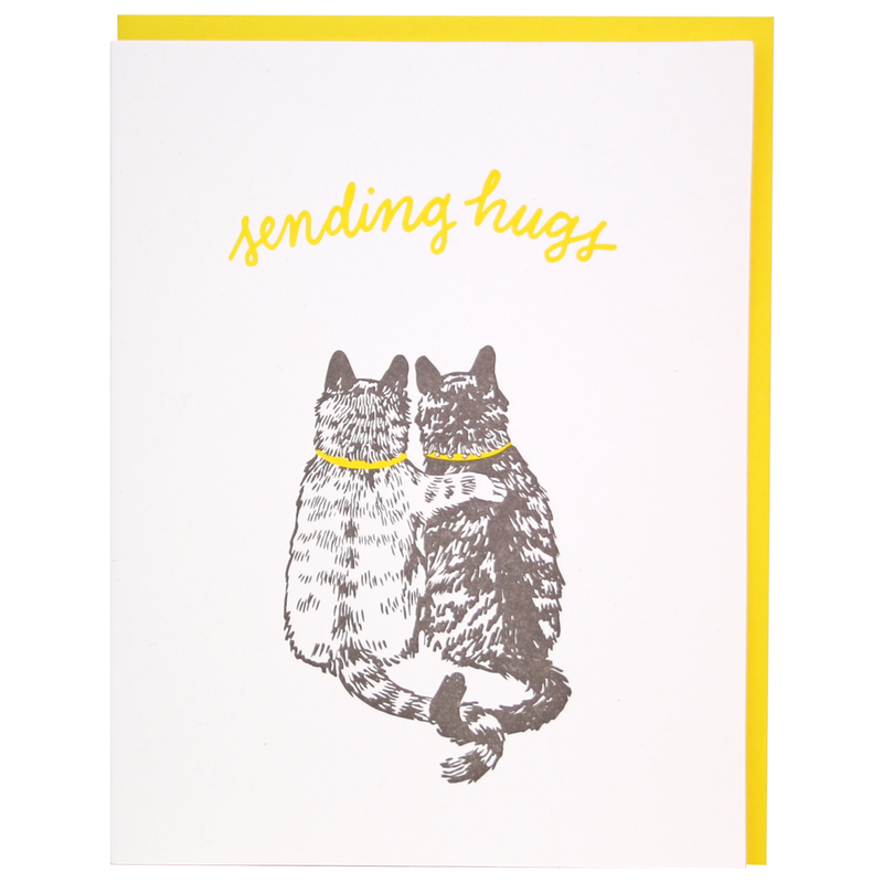 Cat Hugs Sympathy Card