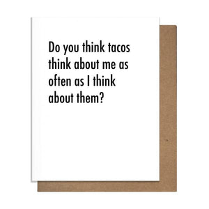 Taco Thoughts Letterpress Card