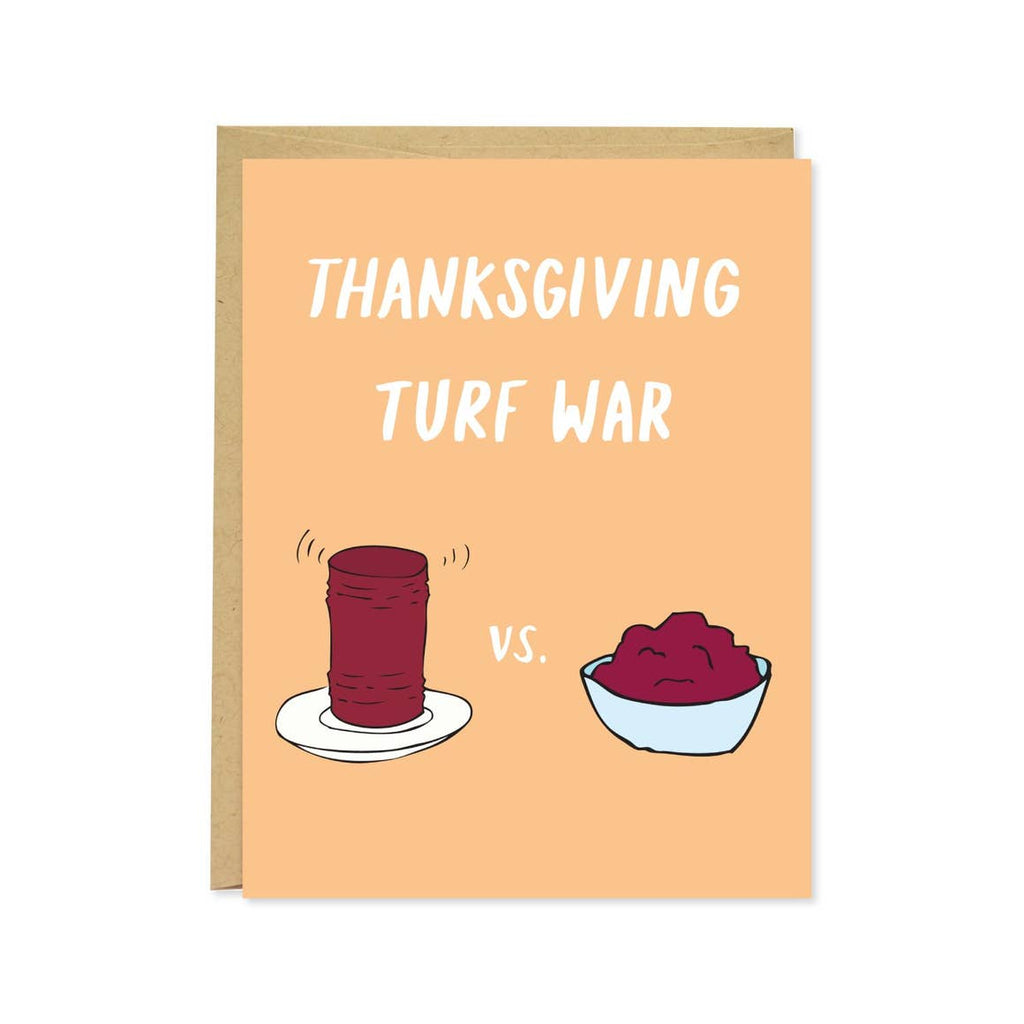 Thanksgiving Cranberry Sauce Turf War Card