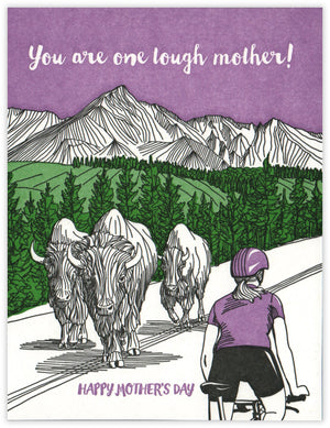 Tough Mother Cyclist Mother's Day Card