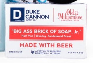4.5 oz size of Beer Soap in box