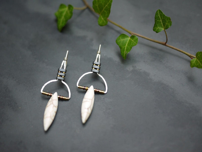Tribal | Howlite Drop Earrings