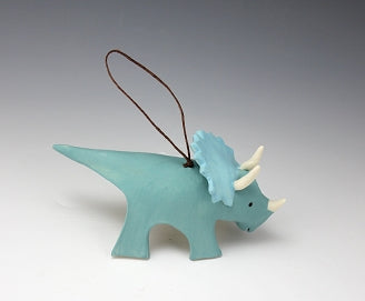 Triceratops Porcelain Ornament