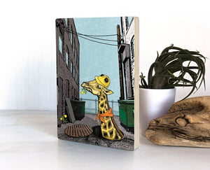 Urban Giraffe Wood Block Print