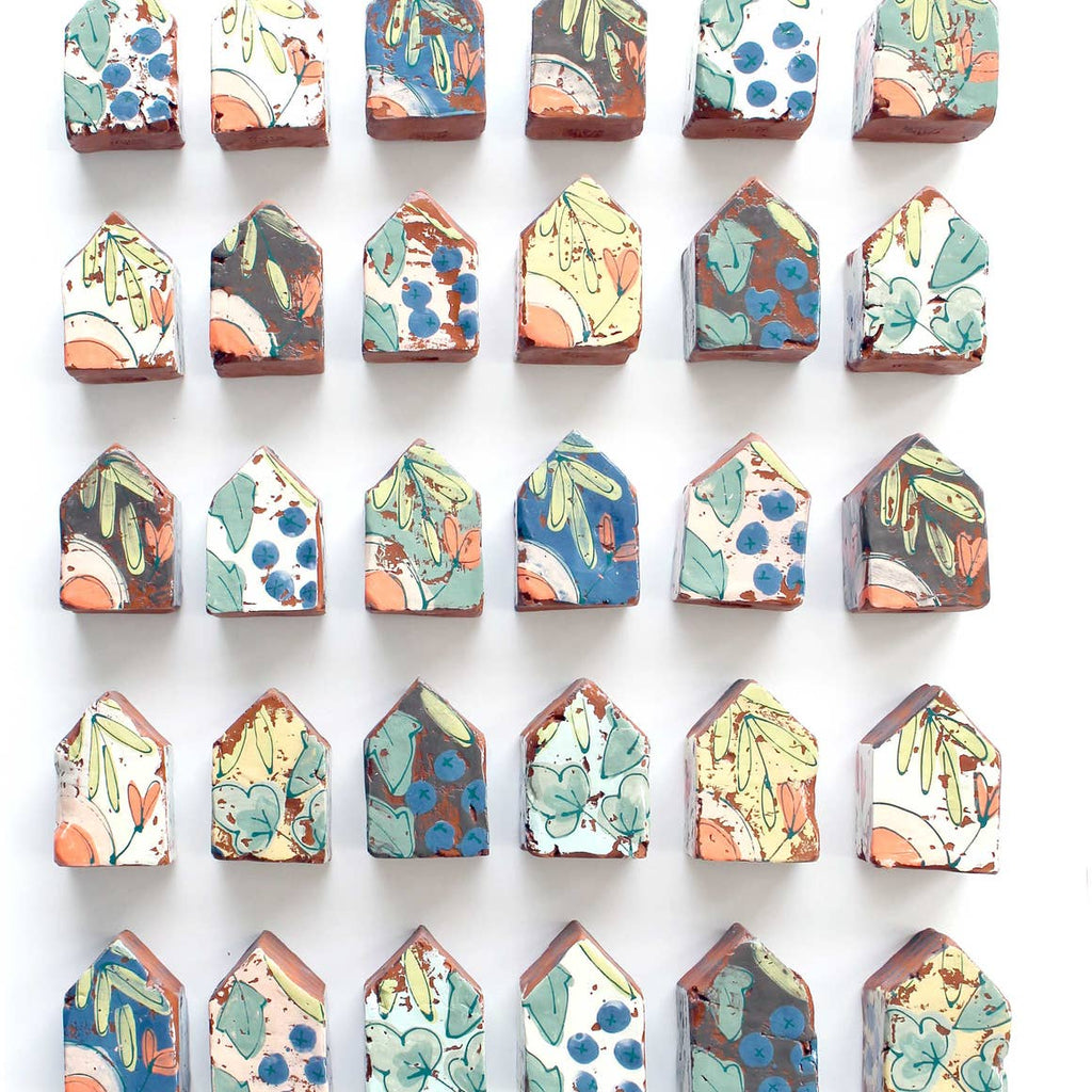 Wall of Ceramic Houses