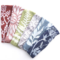 Headbands with White Block Print
