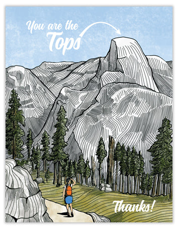 You Are the Tops Mountain Thank You Card