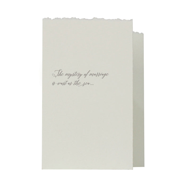 "Folded Heart ""Marriage"" Card"