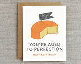 Aged to Perfection Cheese Bday Card