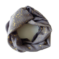 Gray and Gold Infinity Scarf
