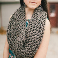 Circle Cowl Knit Scarf