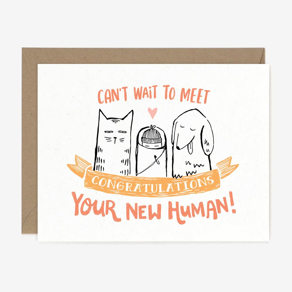 New Human Card for Baby Shower