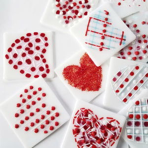 Fused Glass Sweetheart Tile