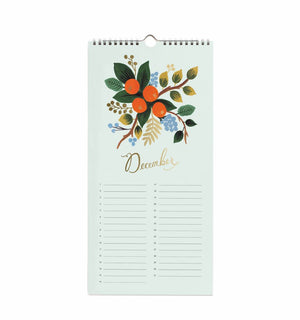 December Page of Celebration Wall Calendar