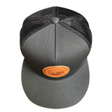 Top of Charcoal Trucker Hat