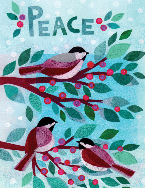 Peace Birds Holiday Card