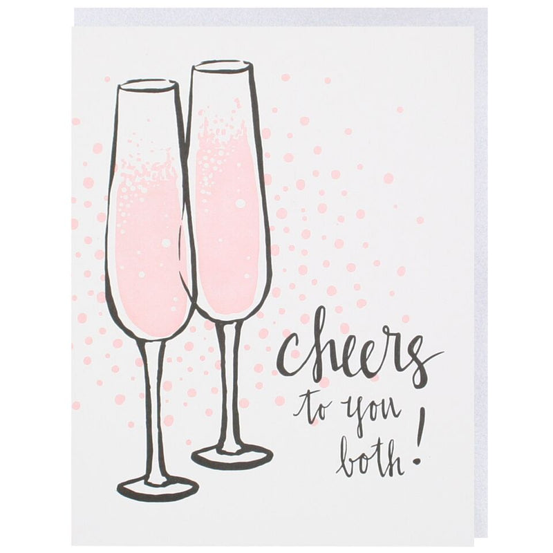 Cheers To You Both Letterpress Card