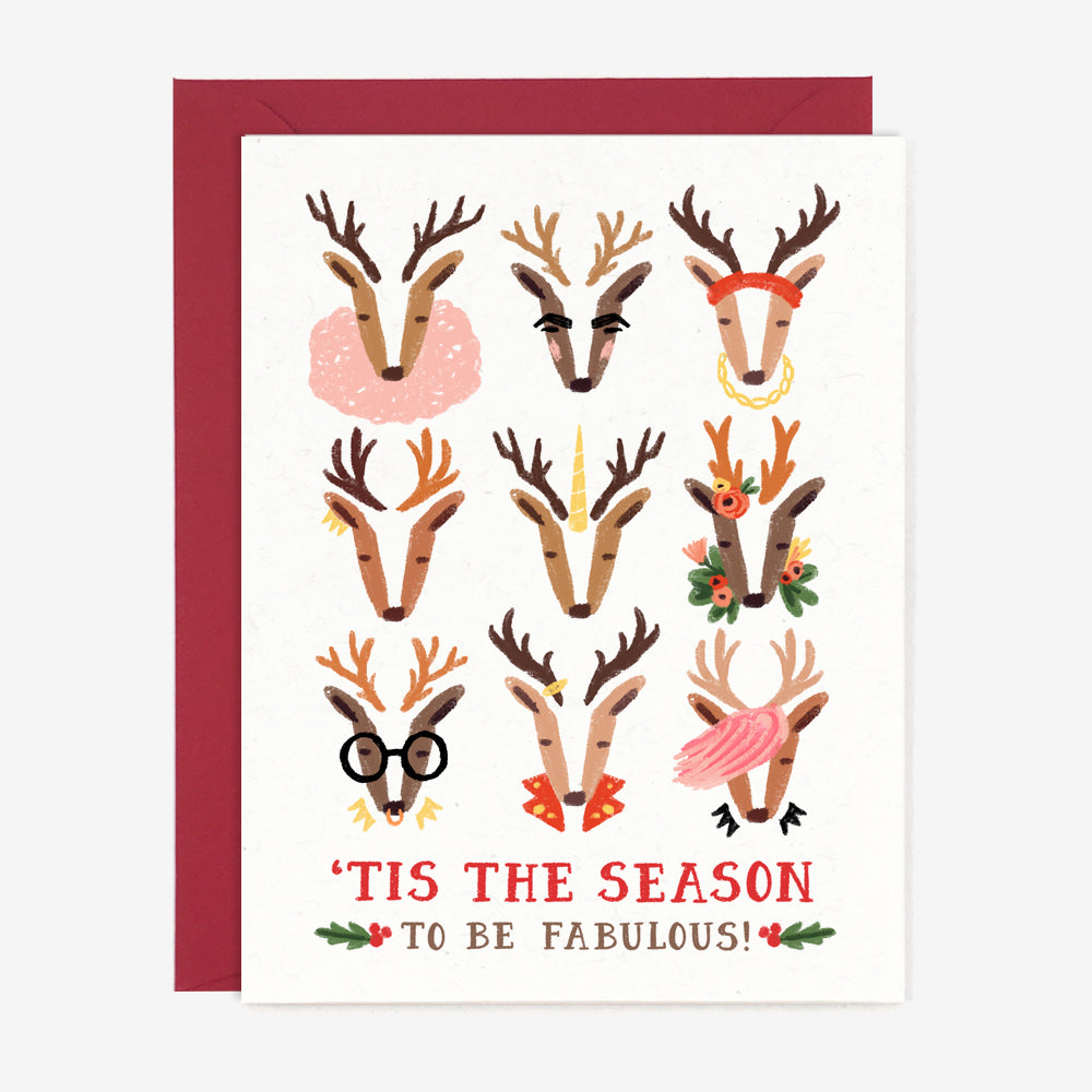 Fabulous Reindeer Holiday Card