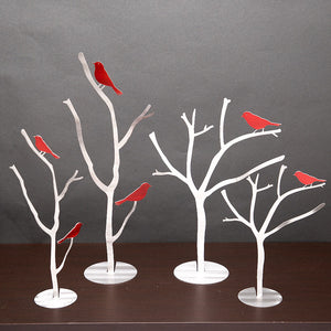 Aluminum Bird Branch Sculpture