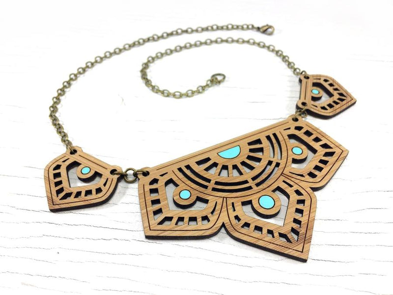 Eastern Bloom Bamboo Necklace