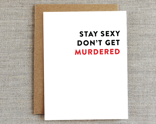Murderino Card :: Rhubarb Paper Co.