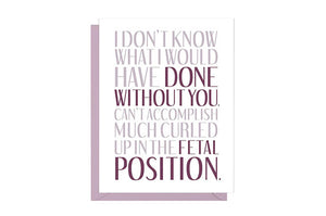 Fetal Position Thank You Card
