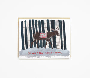 Snowy Moose Boxed Holiday Cards