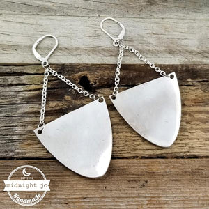 Half Moon Spoon Drop Earrings