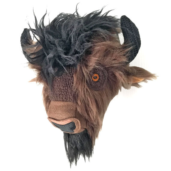 Bison Head Faux Taxidermy Trophy