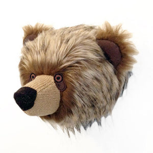 Faux Bear Head Taxidermy