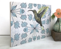 Hummingbird Wall Art on Wood