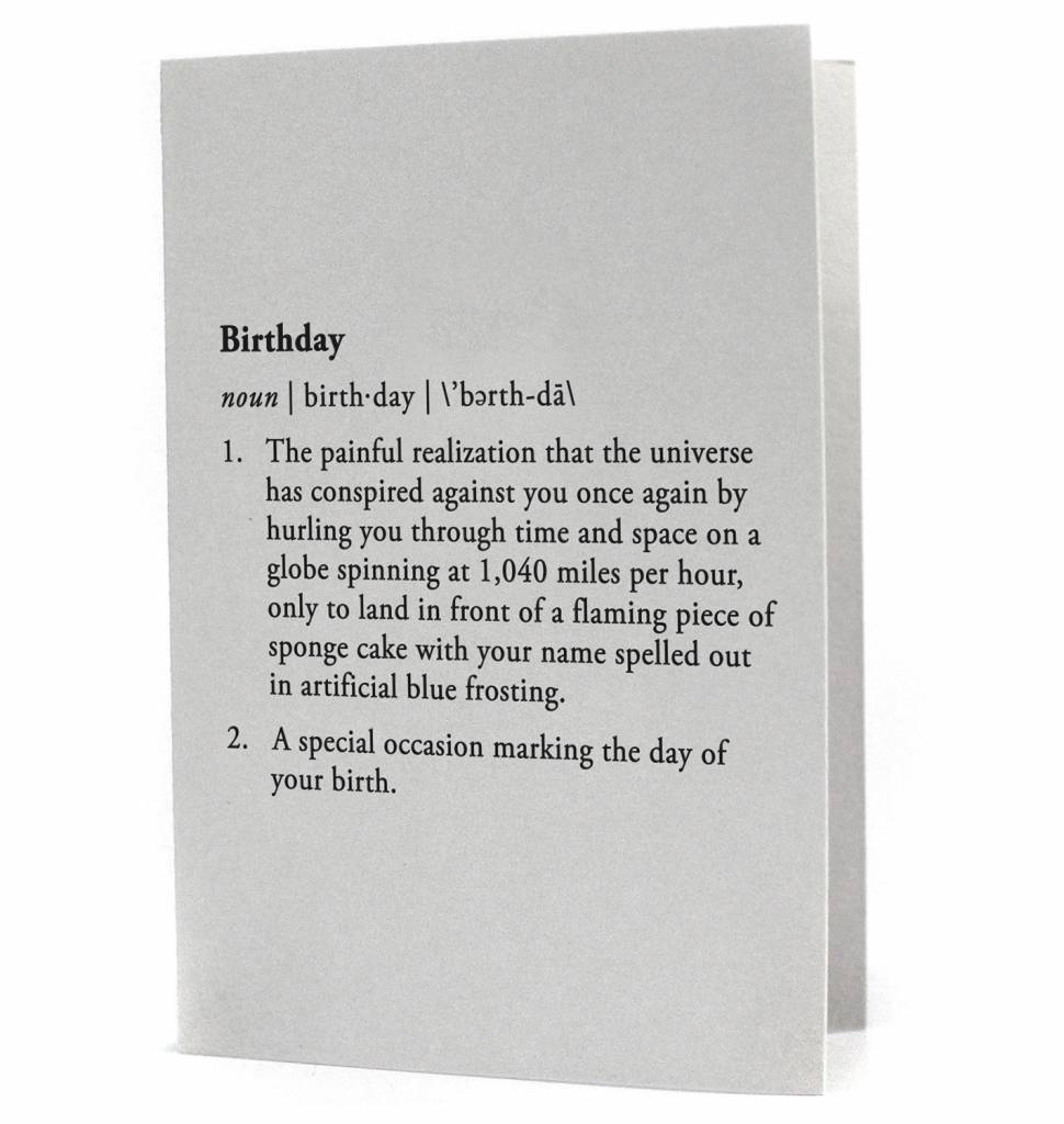 Birthday Dictionary Card