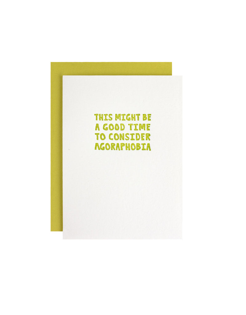 Letterpress Humorous Greeting Card