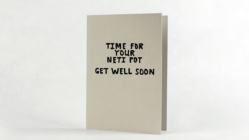 Neti Pot Get Well Card