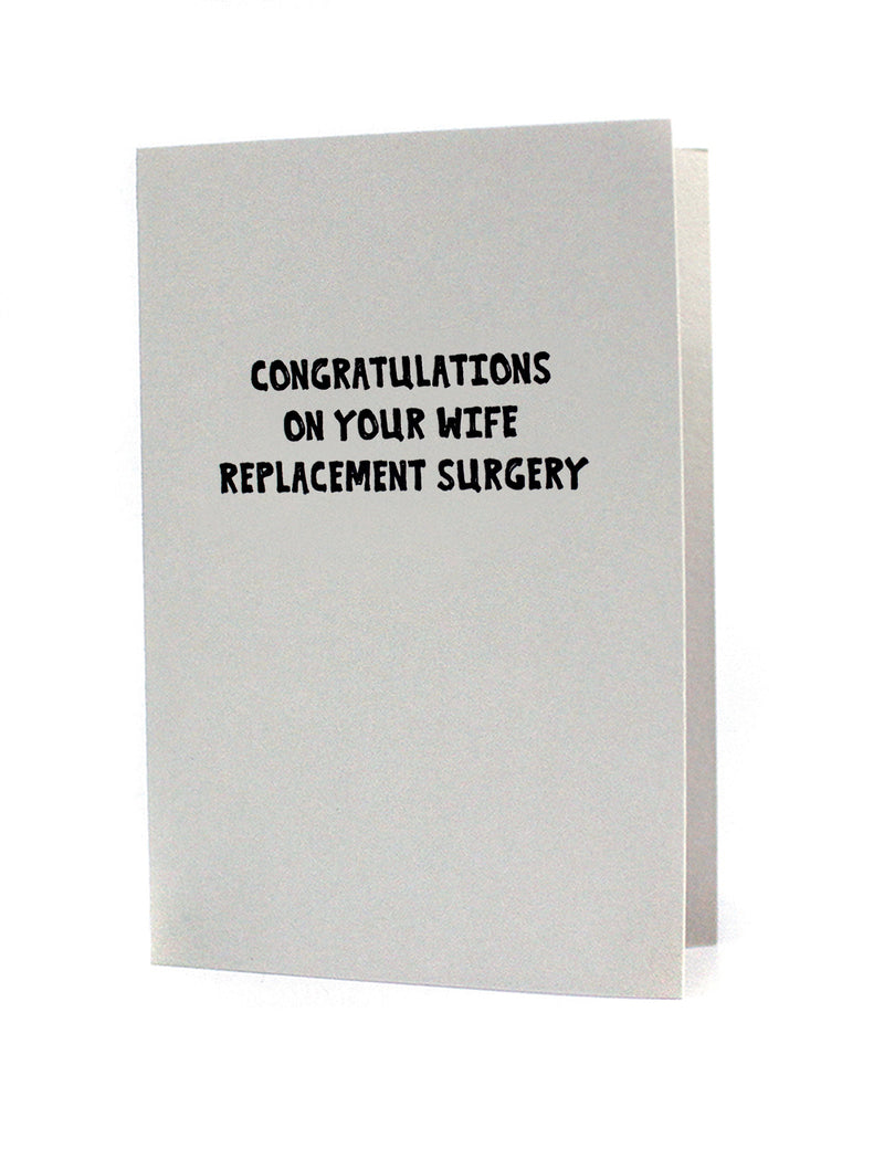 Wife Replacement Surgery Card