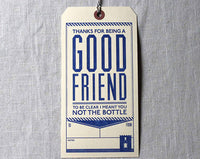 Good Friend Booze Gift Tag