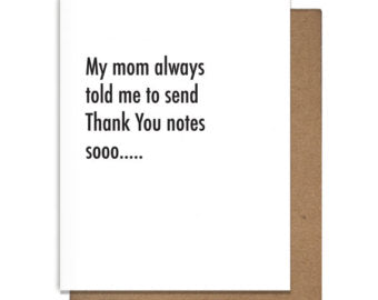 Funny Letterpress Thank You Card