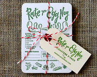 Set of 5 Rate Your Egg Nog Coasters