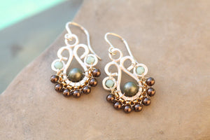 Neutral Succulent Earrings :: Octavia Bloom
