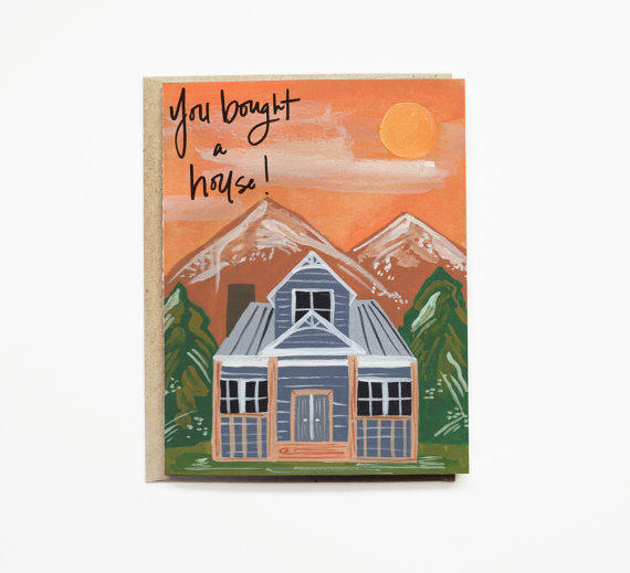 Painted Sunset Housewarming Card
