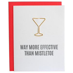 More Effective Than Mistletoe Letterpress Holiday Card