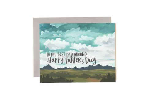 Best Dad Around Scenic Father's Day Card