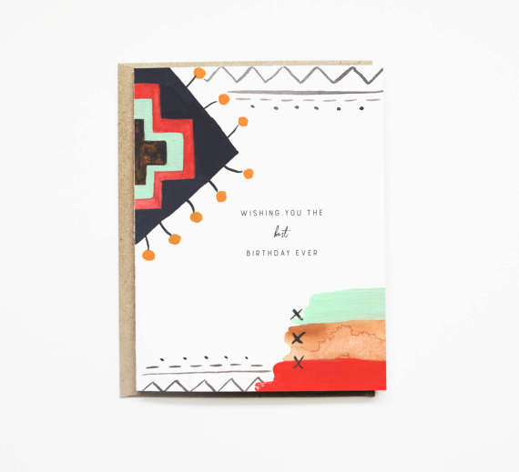 Tribal Aztec Pattern Best Birthday Card