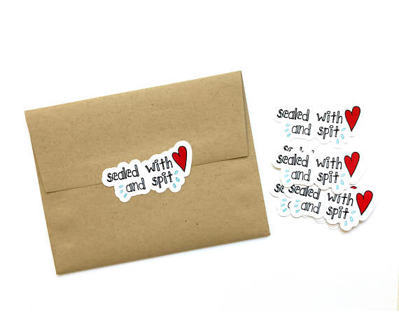 Sealed With Love and Spit Mail Stickers
