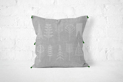 Nordic Scandinavian Forest Pillow