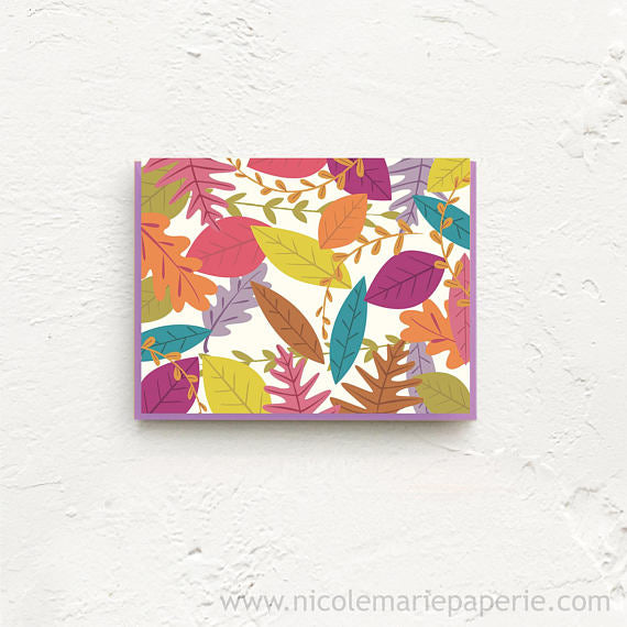 Autumn Leaves Boxed Stationery